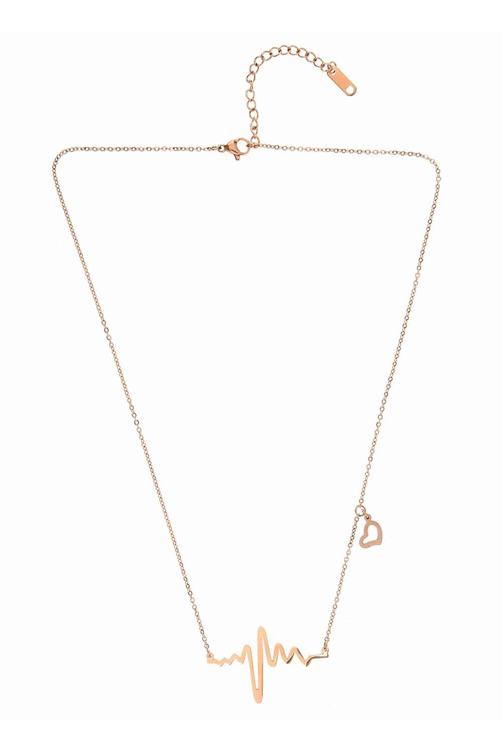 MIZALLE Rhythm Steel Necklace (St) (1)