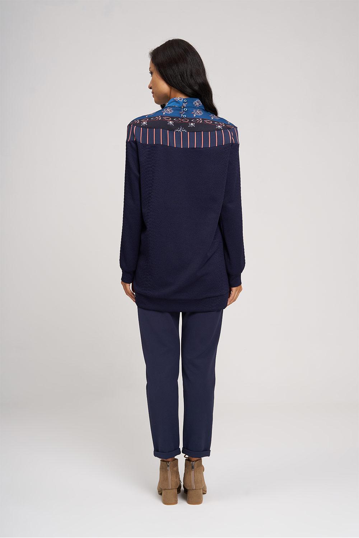 Roba Desenli Lacivert Sweatshirt