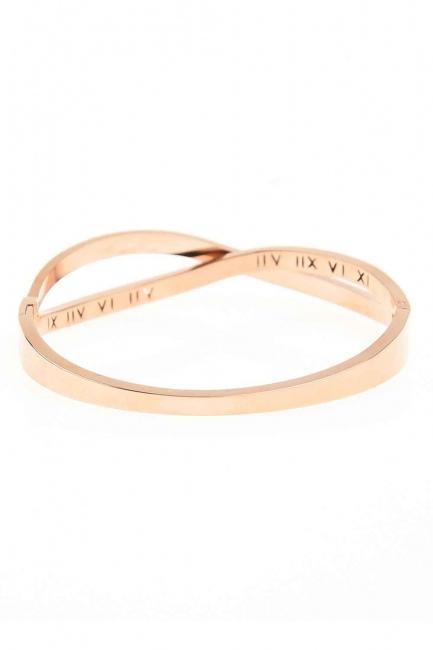 MIZALLE - Roman Numerical Bracelet (St) (1)