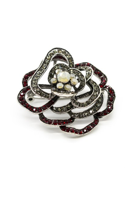 MIZALLE - Rose Stoned Brooch (Mix) (1)
