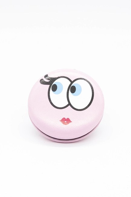 MIZALLE HOME - Round Pocket Makeup Mirror (Pink) (1)