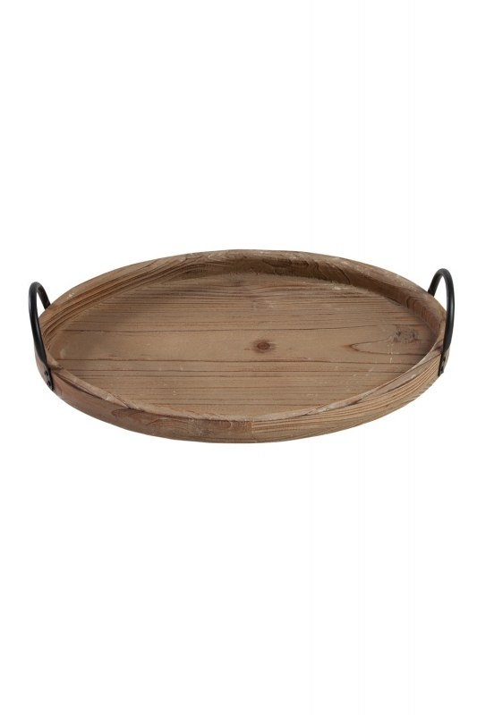 صينية خشبية مستديرة (صغيرة)