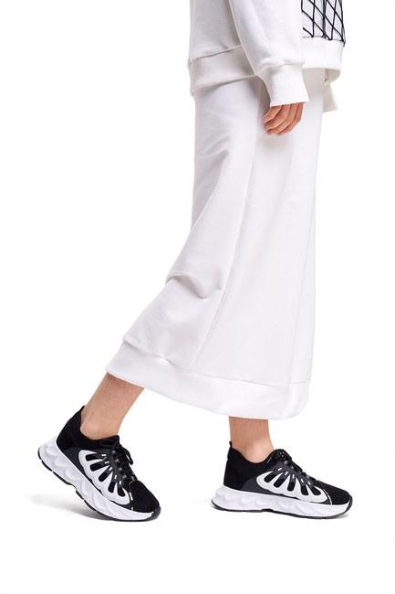 Mizalle - Rubberlı Scuba Spor Ayakkabı (Siyah)