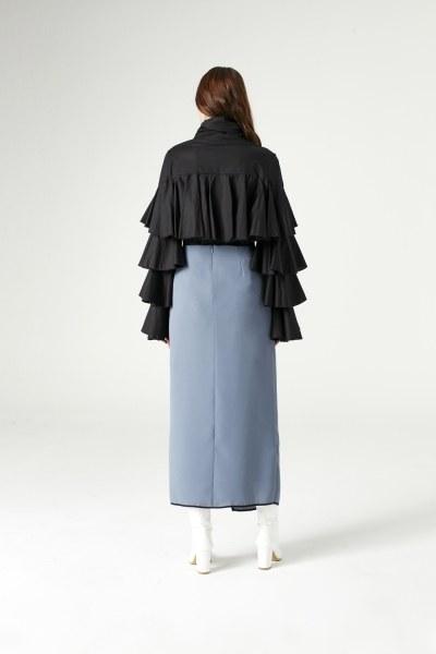 قميص بكشكشة (أسود) - Thumbnail
