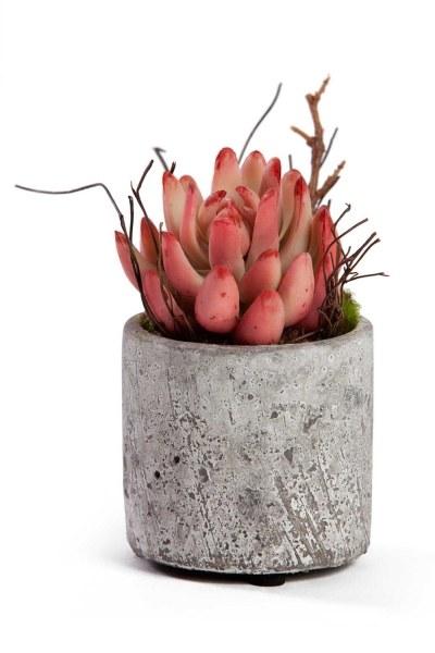 MIZALLE - زهور اصطناعية بوعاء (7x7x12) (1)