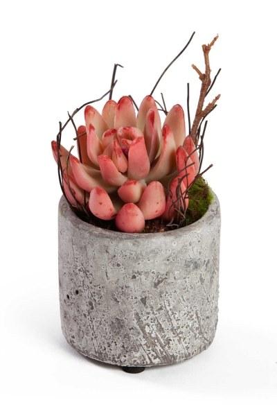 MIZALLE HOME Saksılı Yapay Çiçek (7x7x12)