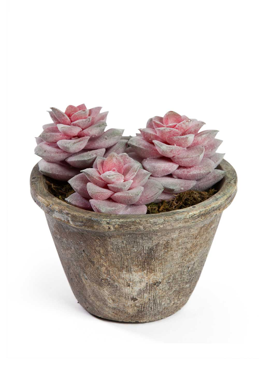 Saksılı Yapay Çiçek (14x14x14)