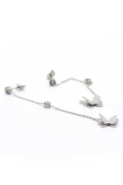 Dangling Butterfly Earrings - Thumbnail