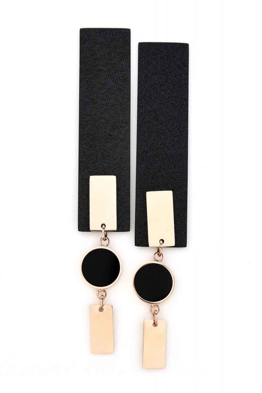 Dangling Long Steel Earrings (St)