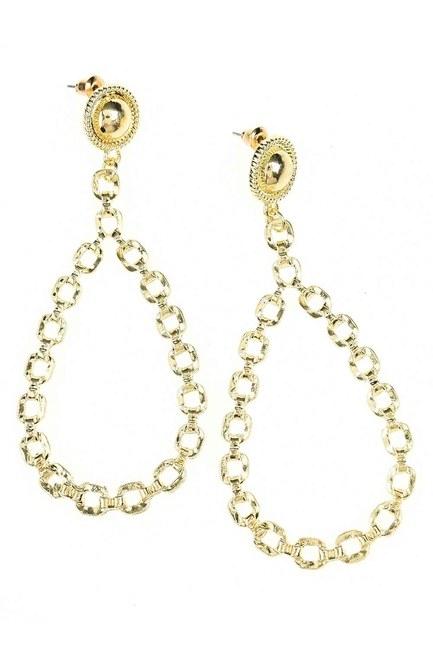 MIZALLE - Dangling Chain Detailed Earrings (St) (1)