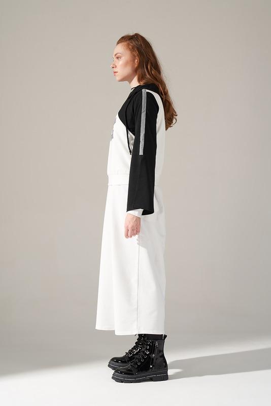 Scuba Ağaç Baskılı Sweatshirt (Beyaz)