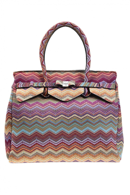 6138d0d55ee Large Fabric Shoulder Bag (Ethnic) I Mizalle