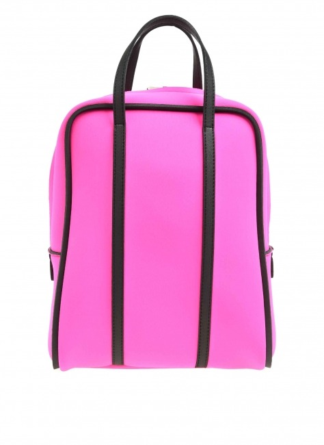 MIZALLE Large Fabric Backpack (Fushia)