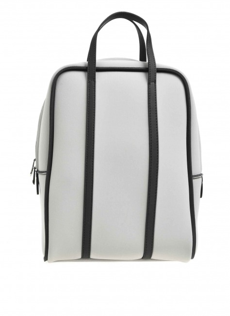 MIZALLE Large Fabric Backpack (Grey)
