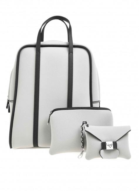 Large Fabric Backpack (Grey) - Thumbnail