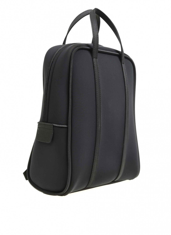 MIZALLE Large Fabric Backpack (Black) (1)