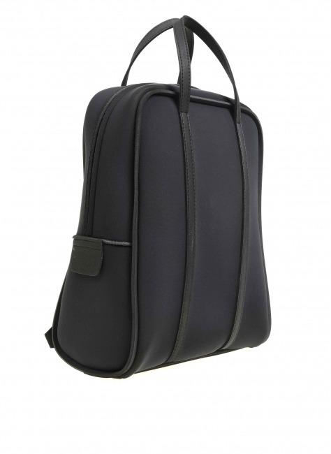 MIZALLE - Large Fabric Backpack (Black) (1)
