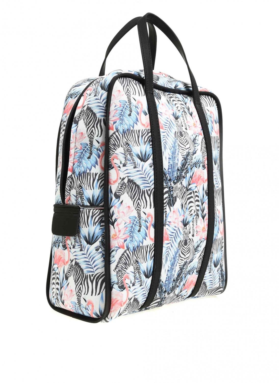 MIZALLE حقيبة ظهر كبيرة من نسيج سكوبا (أسود-أبيض) (1)