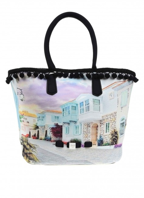 Pompom Detail Bag (Alacati) - Thumbnail