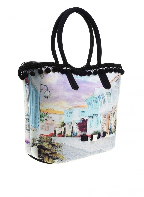 MIZALLE Pompom Detail Bag (Alacati) (1)