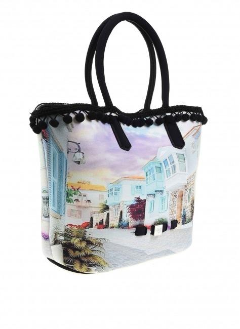 MIZALLE - Pompom Detail Bag (Alacati) (1)