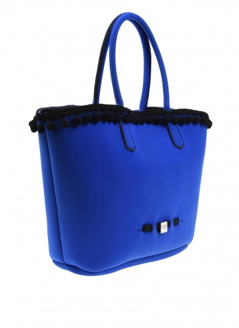 MIZALLE - Pompom Detail Bag (Saxe Blue) (1)
