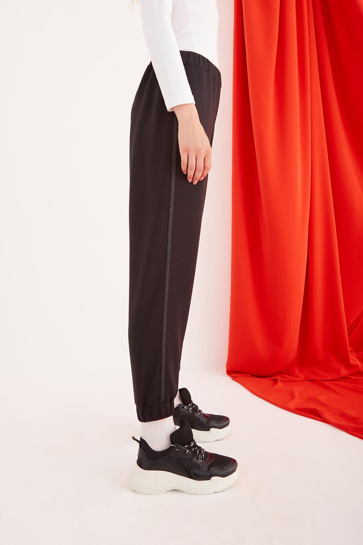 Scuba Sim Şeritli Siyah Pantolon