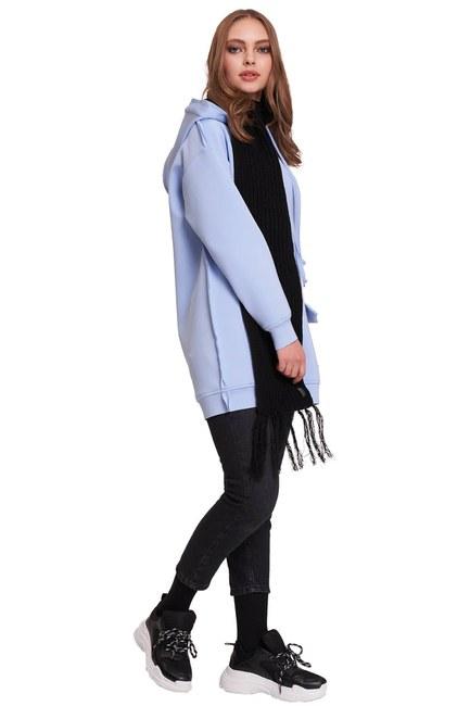 MIZALLE YOUTH Scuba Sweatshirt (Mavi)