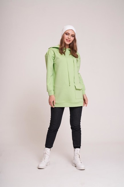 MIZALLE YOUTH - Scuba Sweatshirt (Yeşil) (1)