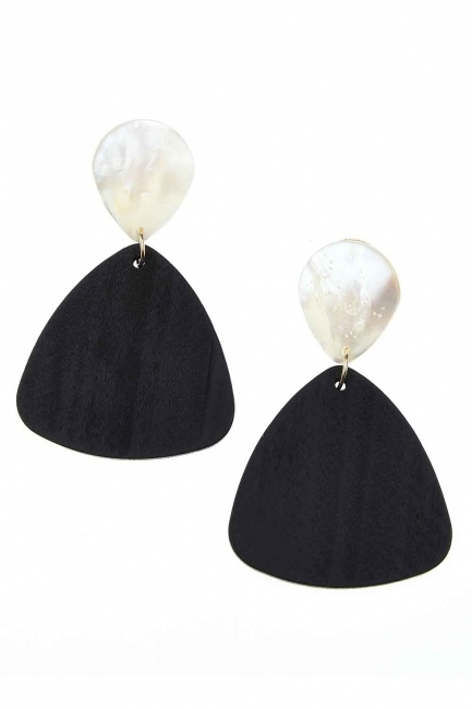 MIZALLE - Pearlescent Dangling Earrings (St) (1)