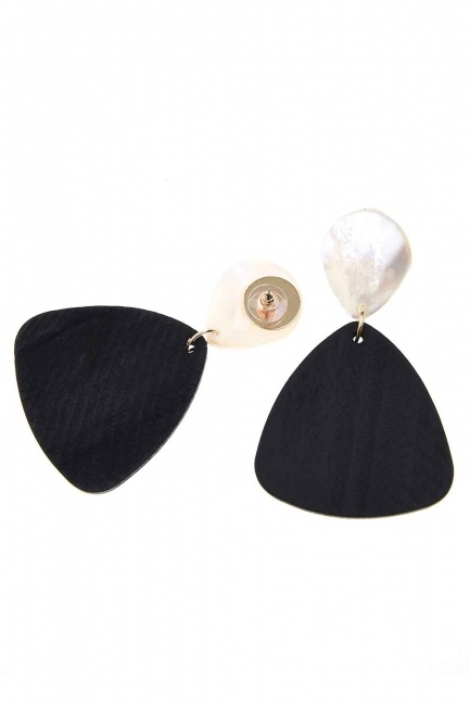 Pearlescent Dangling Earrings (St) - Thumbnail