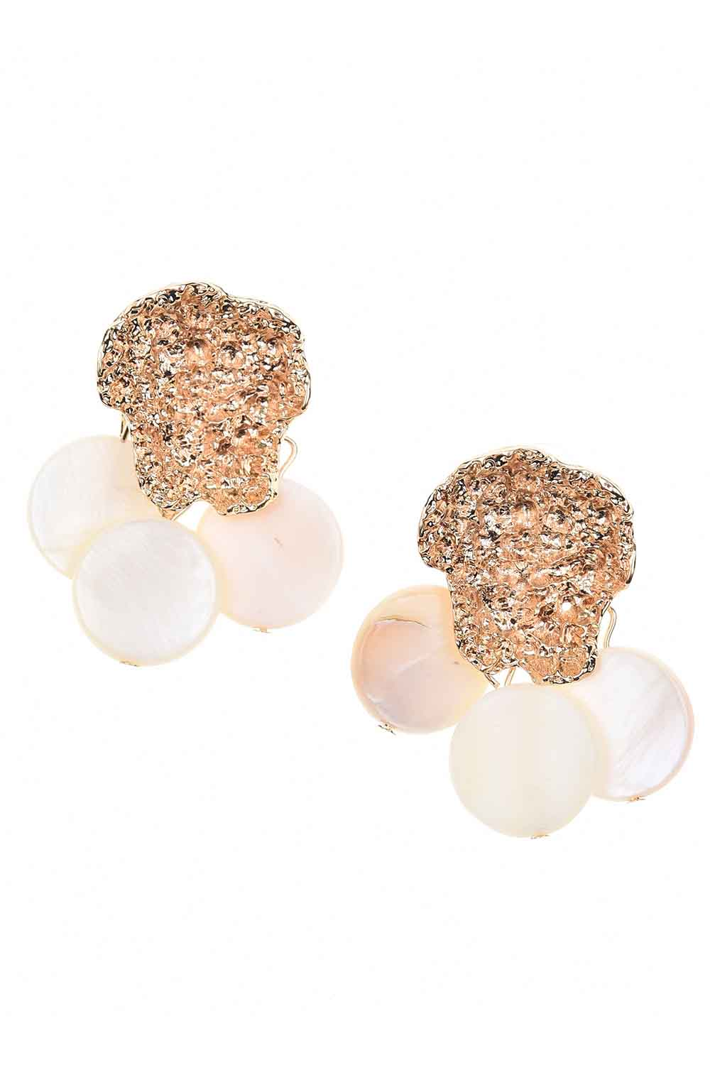 MIZALLE Pearlescent-Looking Stone Earrings (St) (1)