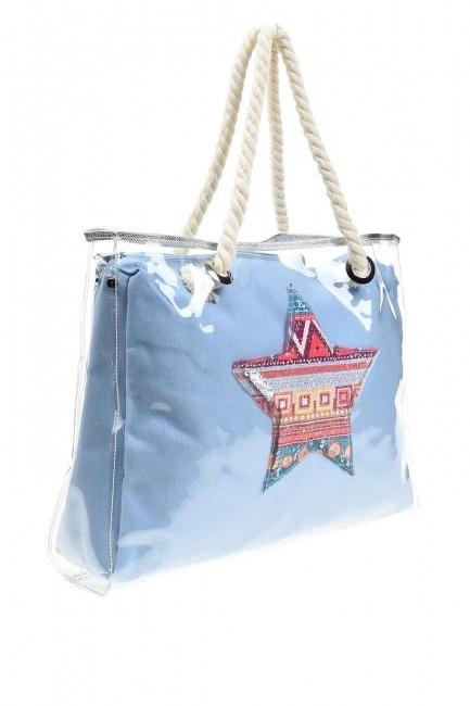 MIZALLE - حقيبة الشاطئ الشفافة (نجمة) (1)
