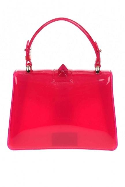 حقيبة يد شفافة لينة (الوردي) - Thumbnail