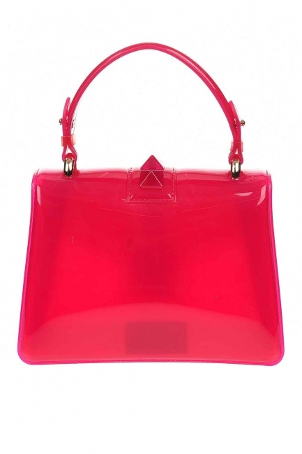 Transparent Hand Bag (Pink) - Thumbnail