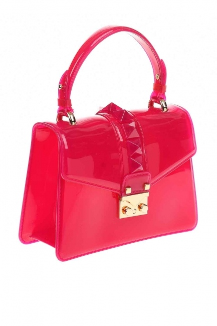 MIZALLE - Transparent Hand Bag (Pink) (1)