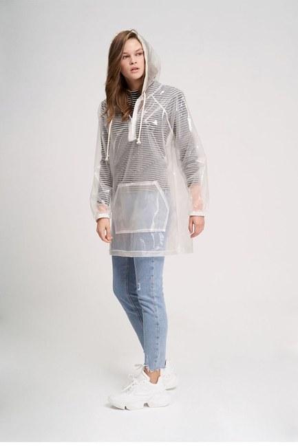 MIZALLE YOUTH - معطف مطر شفاف(شفاف) (1)