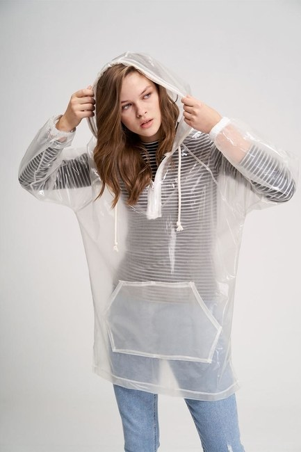 معطف مطر شفاف(شفاف) - Thumbnail