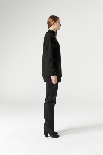 MIZALLE - Sequin Detailed Sweatshirt (Black) (1)