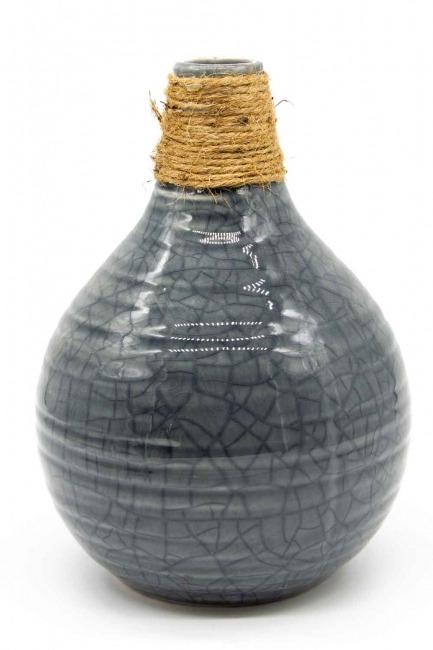 MIZALLE HOME Ceramic Vase (Grey)