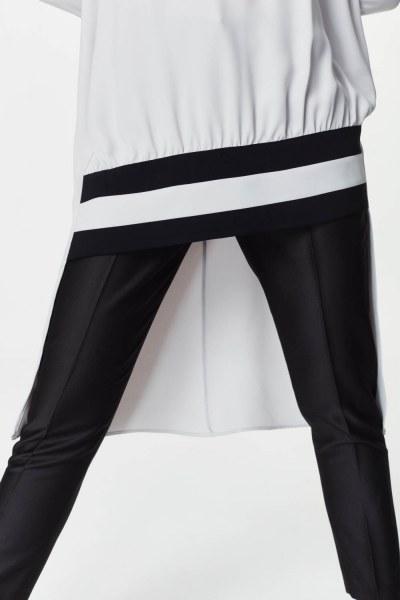 Stripe Detailed Tunic Dress (Grey) - Thumbnail