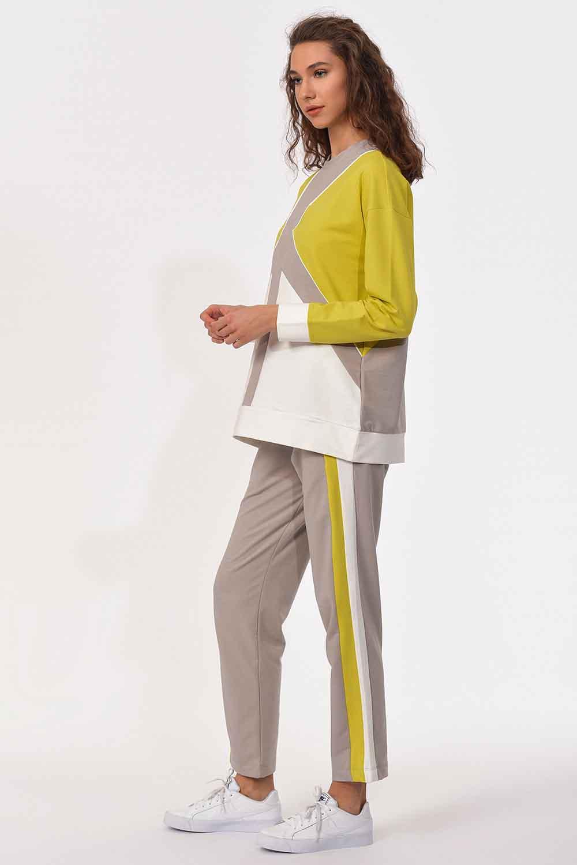 MIZALLE Şerit Detaylı Sweatshirt (1)