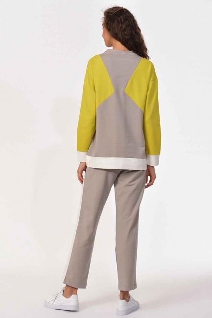Şerit Detaylı Sweatshirt - Thumbnail