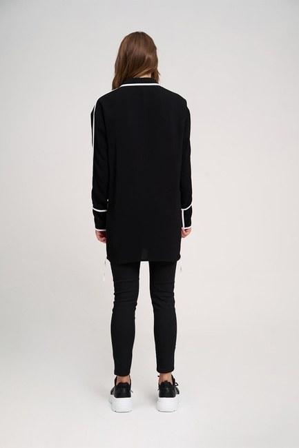 Ribbon Detailed Tunic (Black) - Thumbnail
