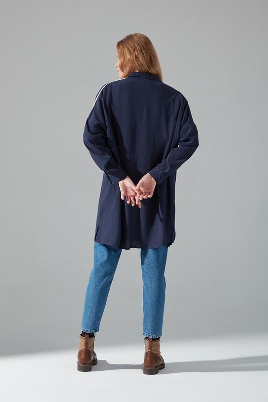 Şeritli Gömlek (Lacivert)