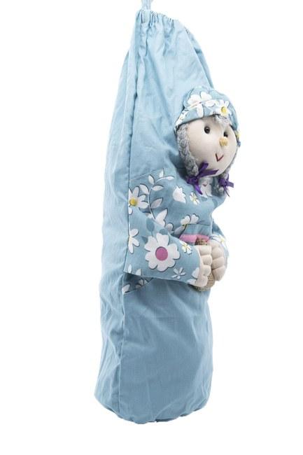 MIZALLE HOME - حامل الأكياس البلاستيكية لطيف (الأزرق) (1)