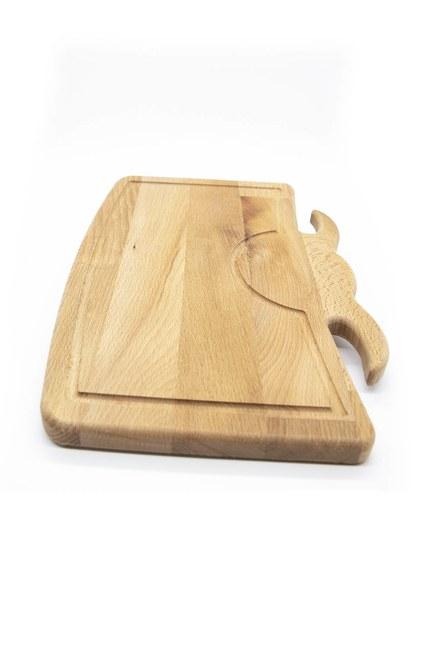 MIZALLE HOME - لوح تقطيع على شكل (خشب) (1)
