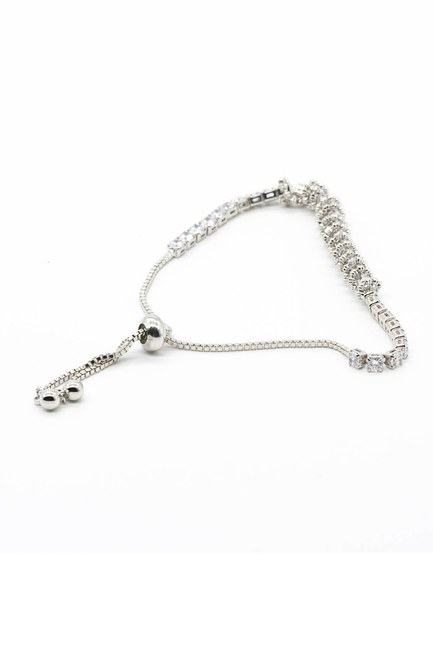 MIZALLE - Shiny Stoned Bracelet (Grey) (1)