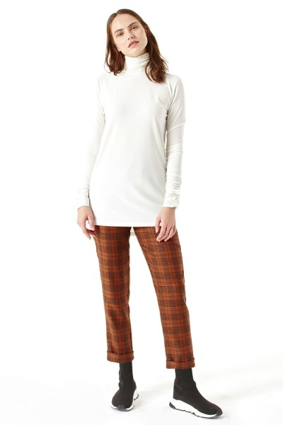 MIZALLE Shirring-Collar Blouse (Ecru)