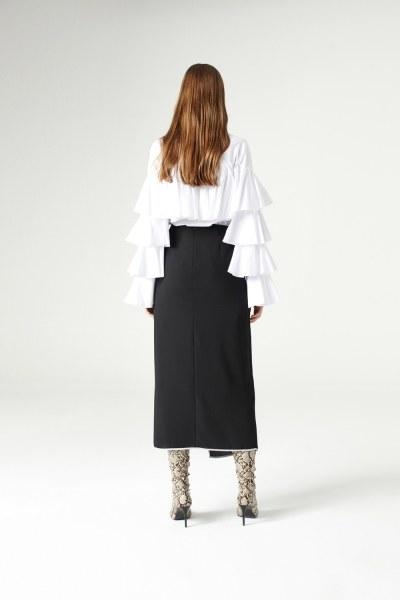 Side-Belted Skirt (Black) - Thumbnail